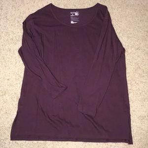 Purple w/blue stripe tunic BUNDLE TO SAVE
